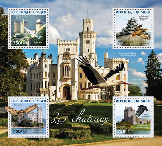 Castles - Issue of Niger postage stamps