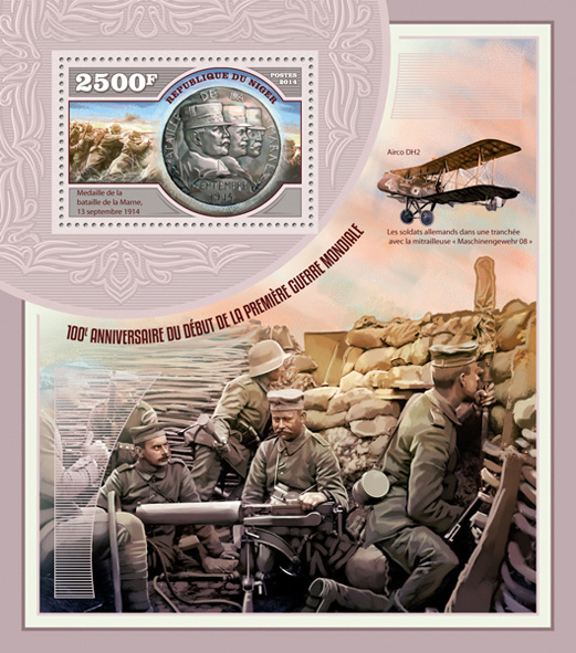 World War – I - Issue of Niger postage stamps
