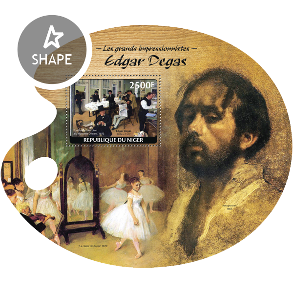 Edgar Degas - Issue of Niger postage stamps