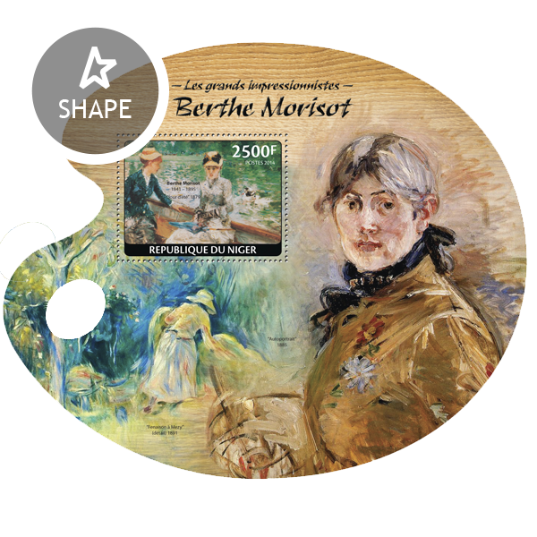 Berthe Morisot - Issue of Niger postage stamps