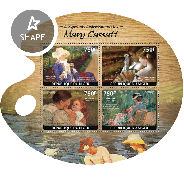 Mary Cassatt - Issue of Niger postage stamps