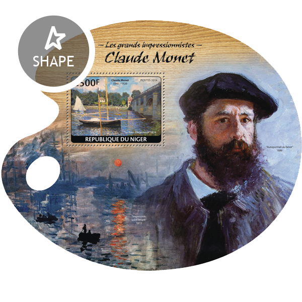 Claude Monet - Issue of Niger postage stamps