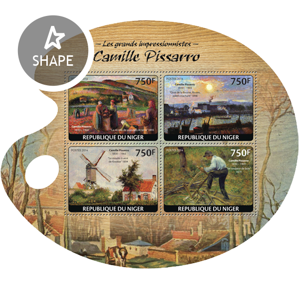 Camille Pissarro - Issue of Niger postage stamps