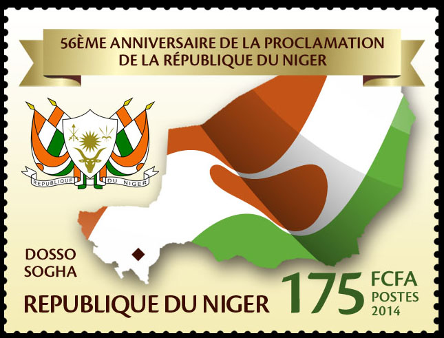 Proclamation of the Republic of Niger - Issue of Niger postage stamps
