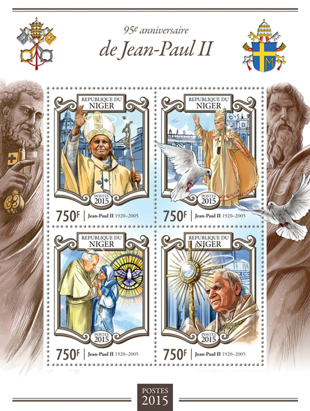 John Paul II - Issue of Niger postage stamps