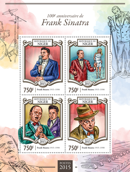 Frank Sinatra - Issue of Niger postage stamps