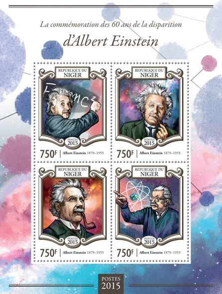 Albert Einstein - Issue of Niger postage stamps