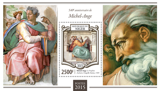 Michelangelo - Issue of Niger postage stamps