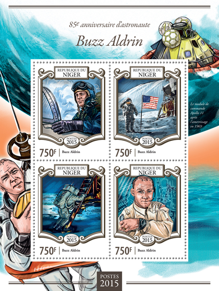 Buzz Aldrin  - Issue of Niger postage stamps