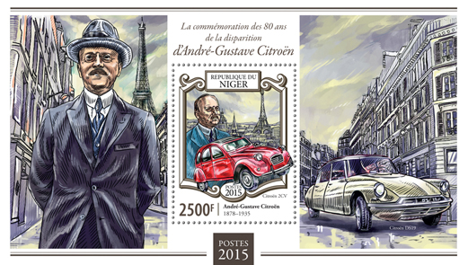 André-Gustave Citroën - Issue of Niger postage stamps