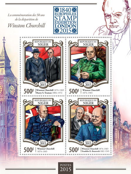 Winston Churchill - Issue of Niger postage stamps