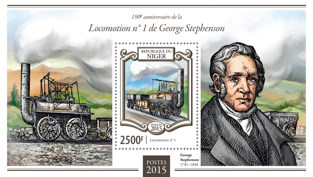 George Stephenson  - Issue of Niger postage stamps