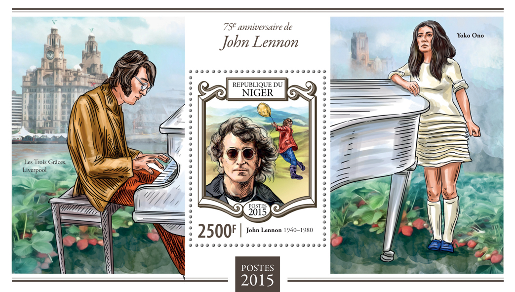 John Lennon - Issue of Niger postage stamps