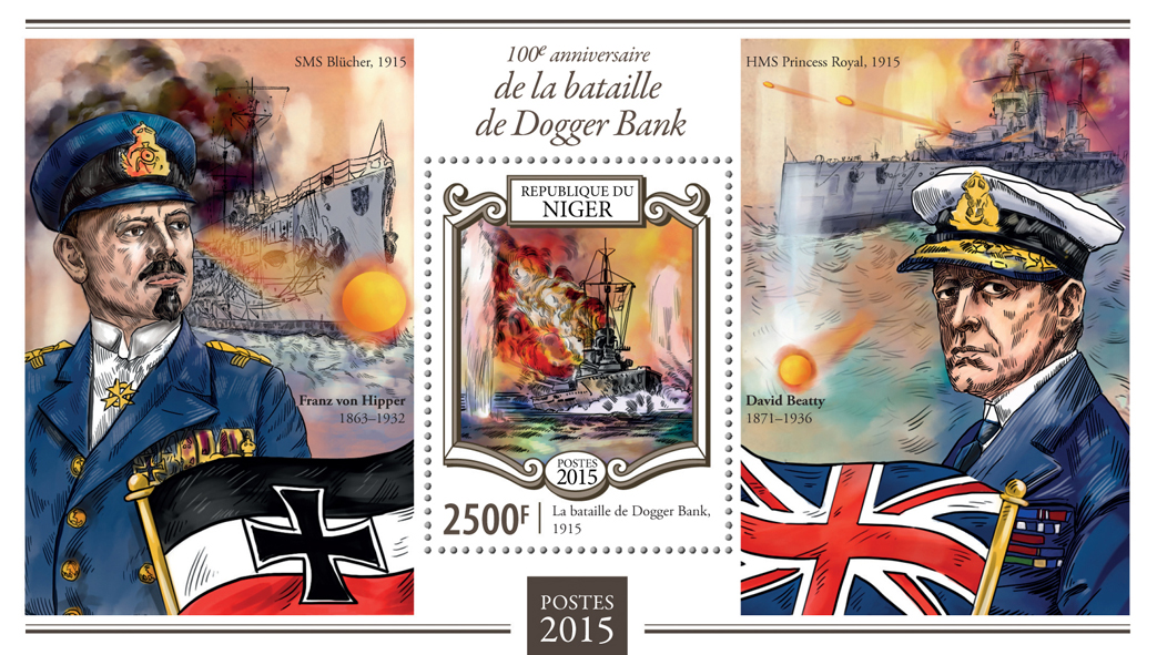 battle of Dogger Bank - Issue of Niger postage stamps