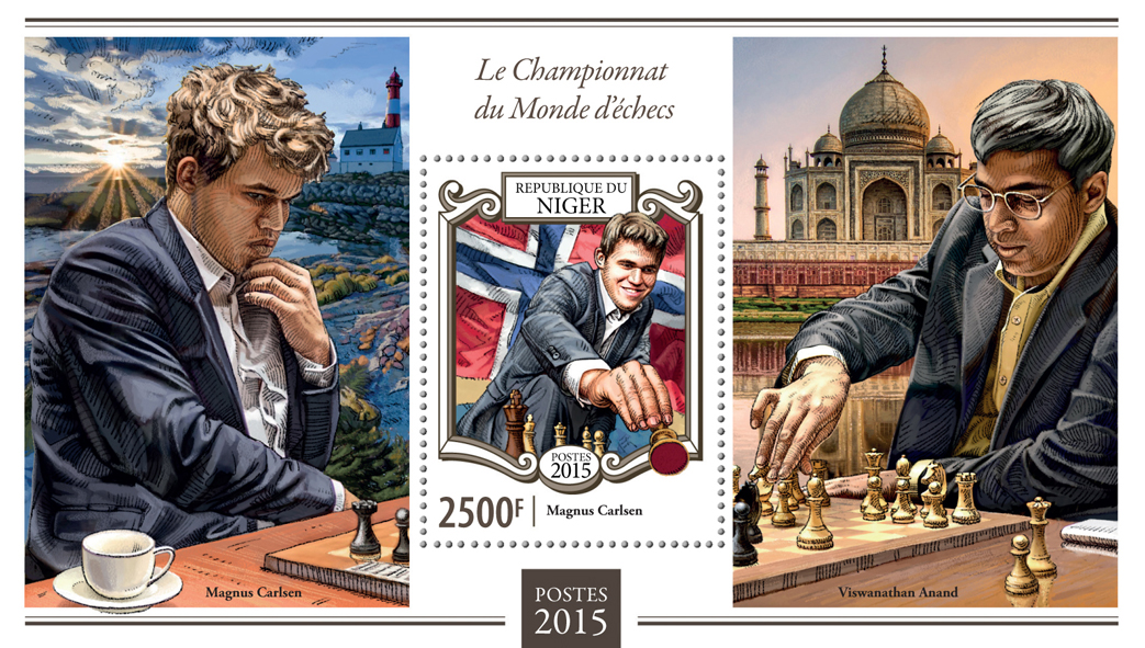 World Chess Championship - Issue of Niger postage stamps
