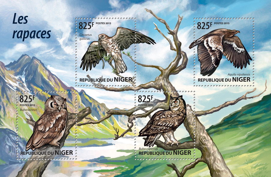 Birds of Prey - Issue of Niger postage stamps