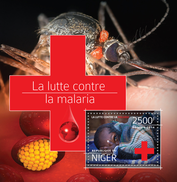 Malaria - Issue of Niger postage stamps