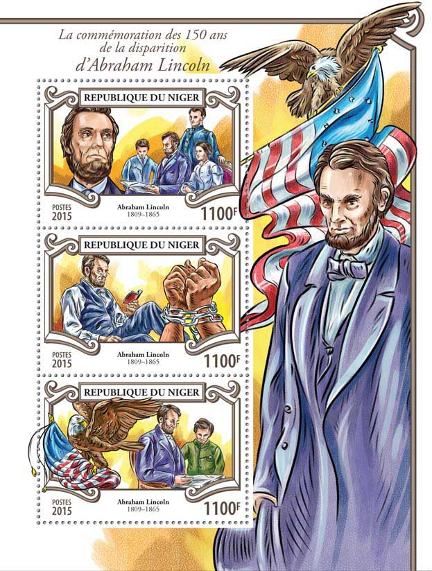 Abraham Lincoln - Issue of Niger postage stamps
