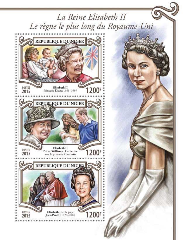 Elisabeth II - Issue of Niger postage stamps