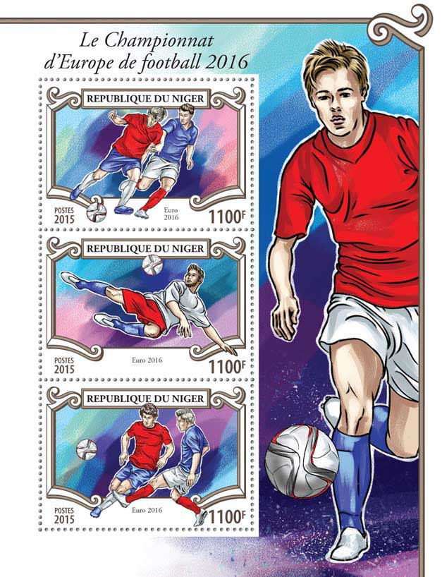 Football - Issue of Niger postage stamps
