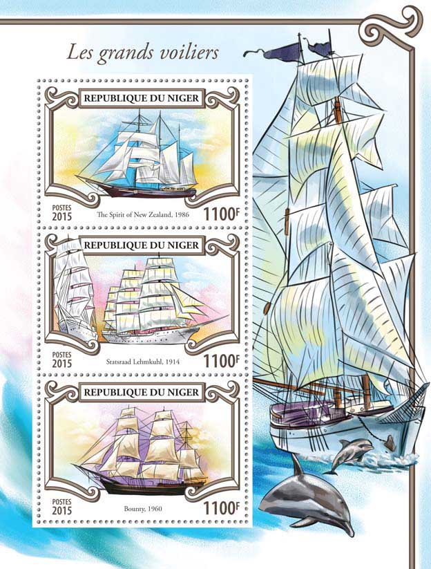 Ships - Issue of Niger postage stamps