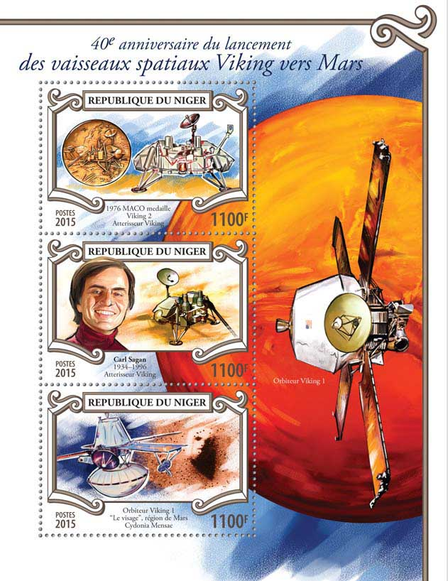 Viking spacecraft - Issue of Niger postage stamps