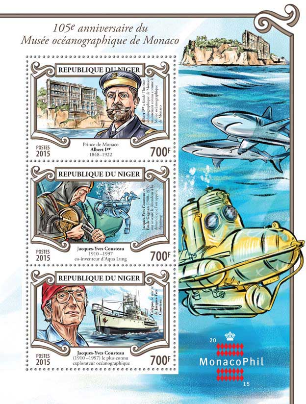Museum - Issue of Niger postage stamps