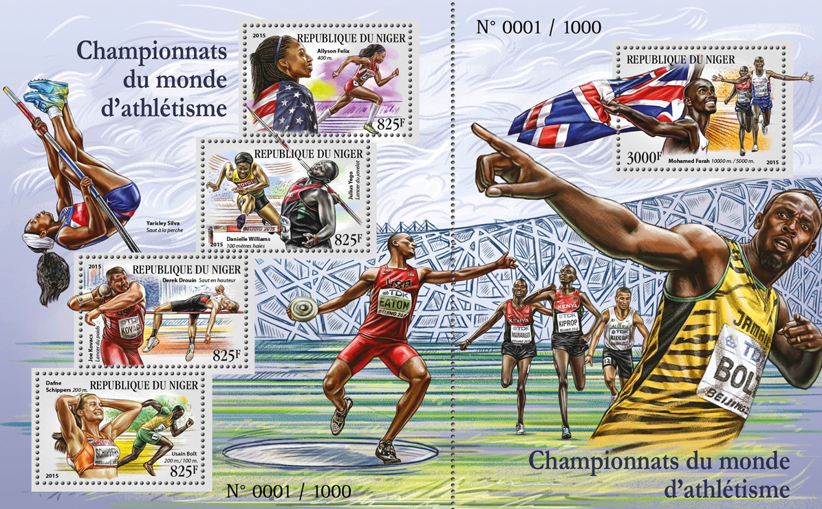 Athletics Championships - Issue of Niger postage stamps