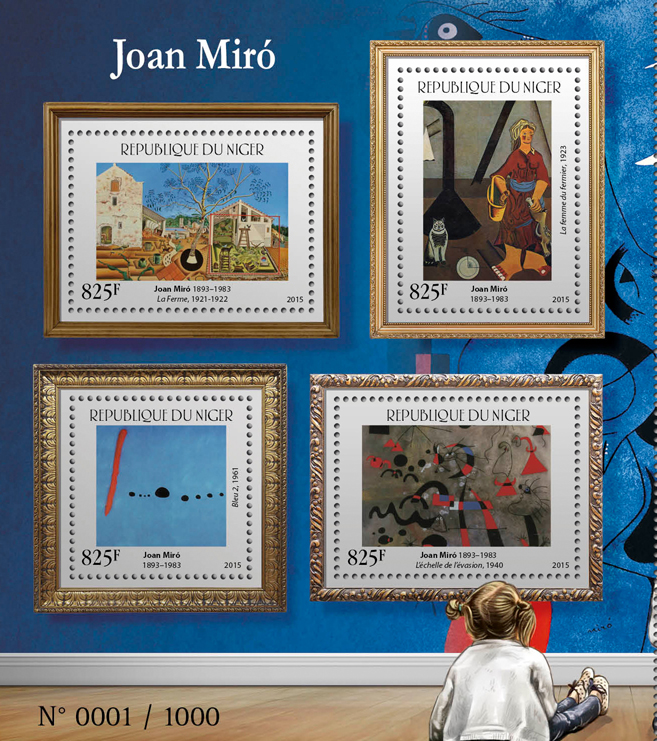 Joan Miró - Issue of Niger postage stamps