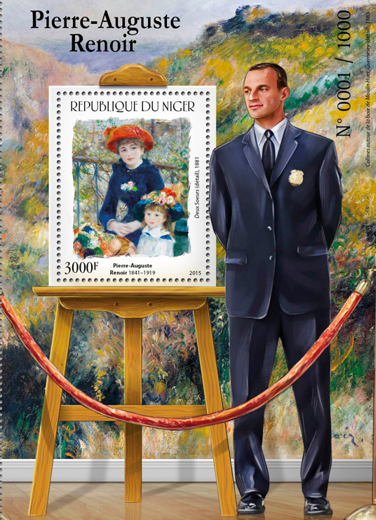 Pierre-Auguste Renoir - Issue of Niger postage stamps