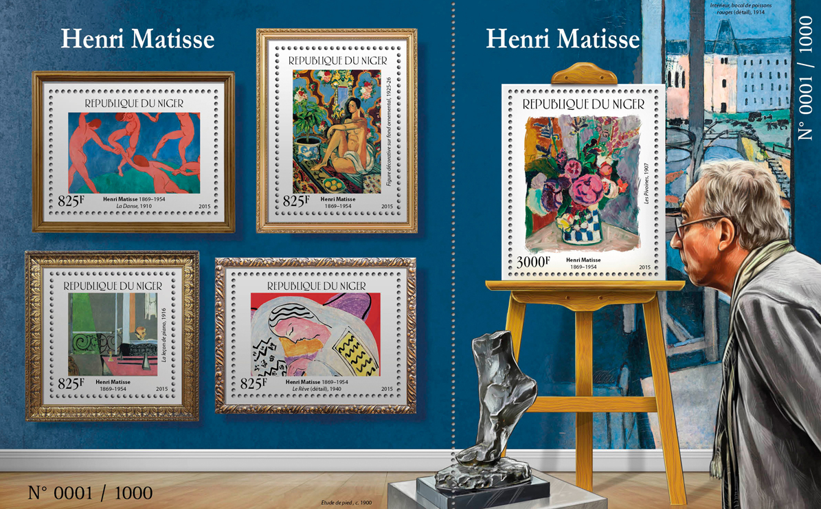 Henri Matisse - Issue of Niger postage stamps