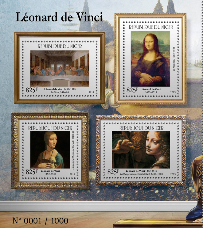 Leonardo da Vinci - Issue of Niger postage stamps