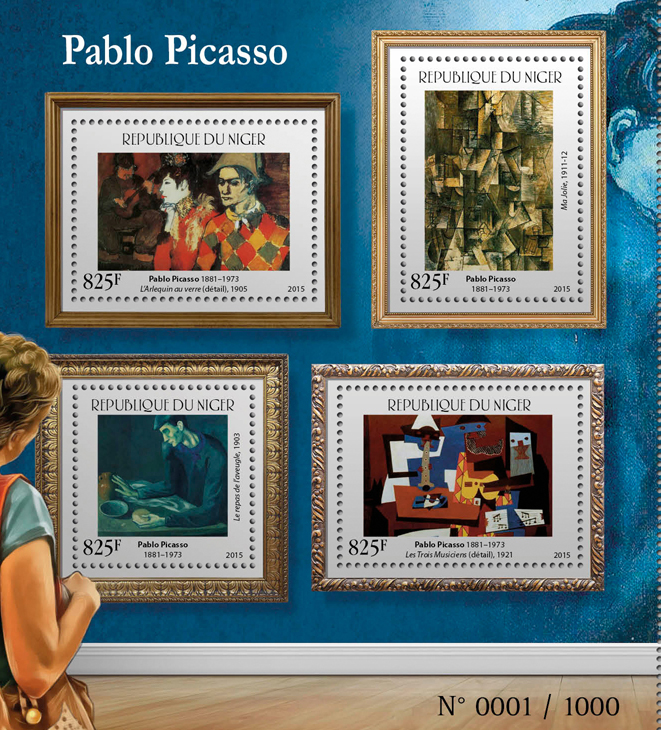 Pablo Picasso - Issue of Niger postage stamps