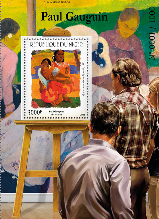 Paul Gauguin - Issue of Niger postage stamps