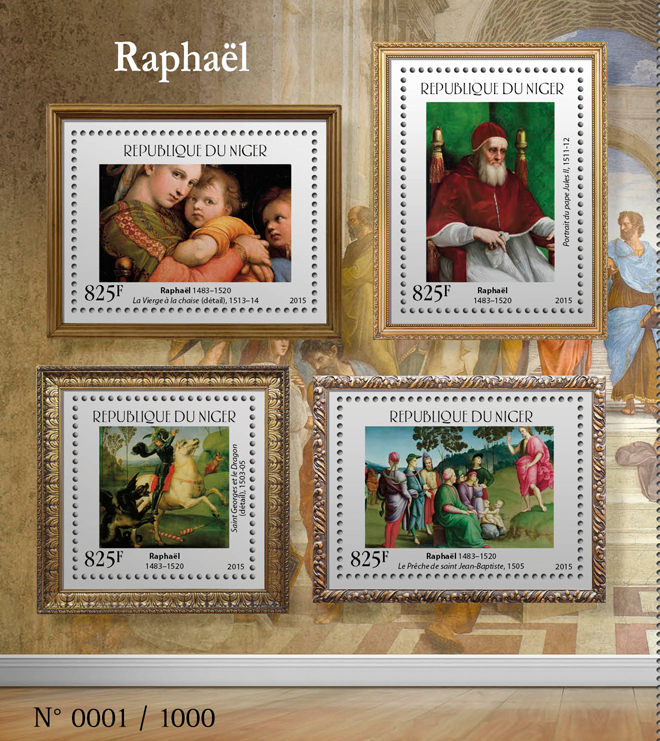 Raphael - Issue of Niger postage stamps