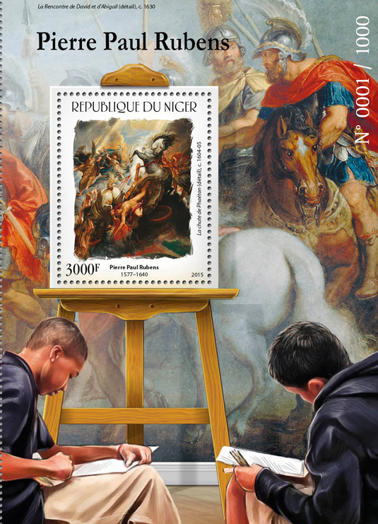 Peter Paul Rubens - Issue of Niger postage stamps