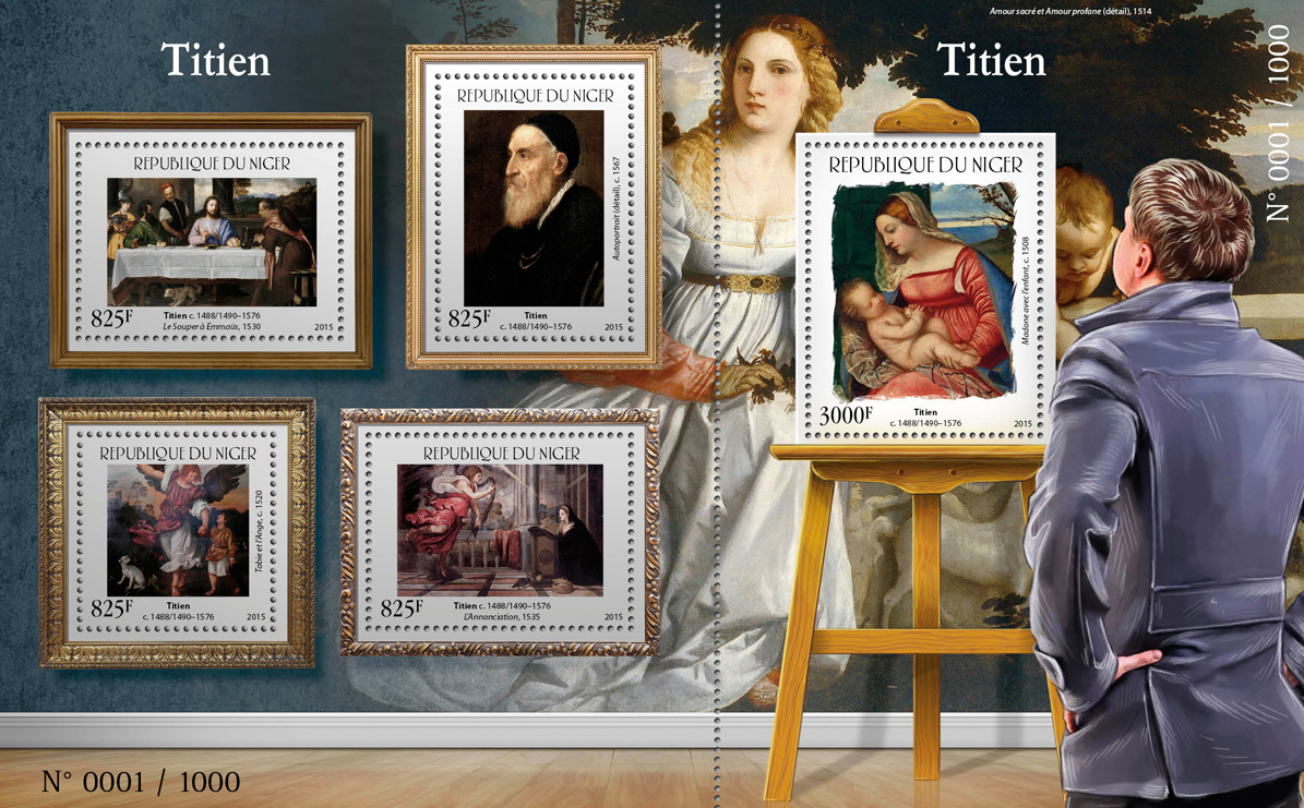 Titian - Issue of Niger postage stamps