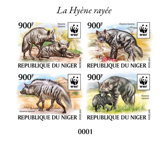 WWF – Hyena (delux) - Issue of Niger postage stamps