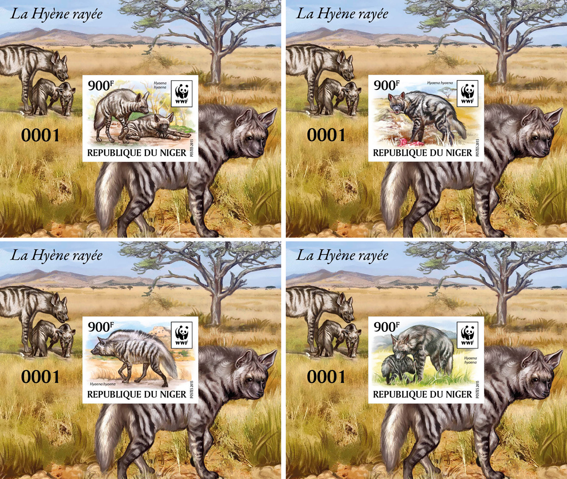 WWF – Hyena (imperf. 4 delux) - Issue of Niger postage stamps