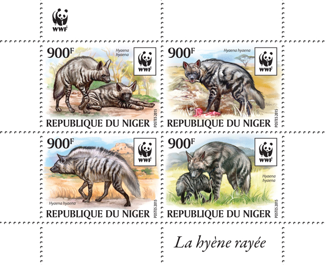 WWF – Hyena (set) - Issue of Niger postage stamps
