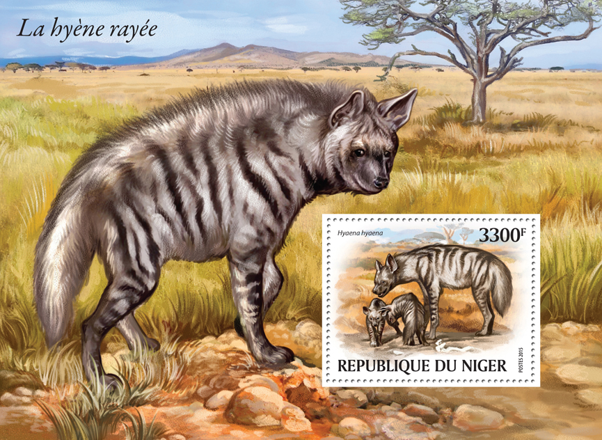Hyena - Issue of Niger postage stamps