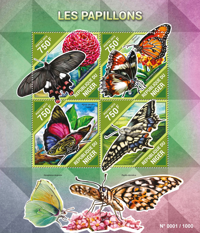 Butterflies - Issue of Niger postage stamps