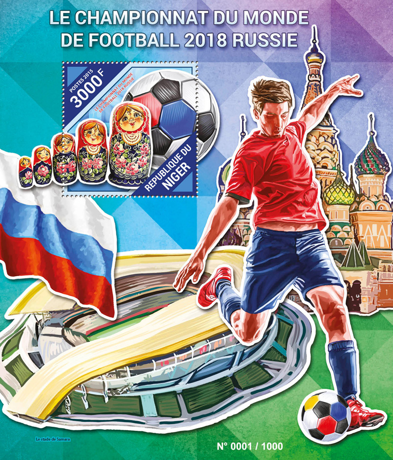 Football world championship - Issue of Niger postage stamps