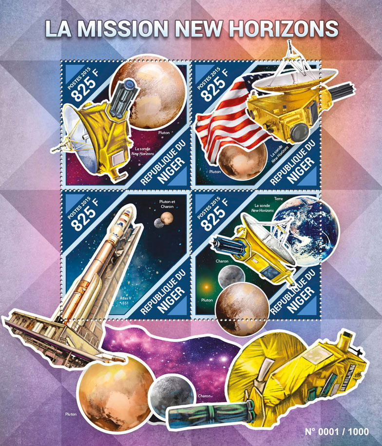Mission New Horizons - Issue of Niger postage stamps