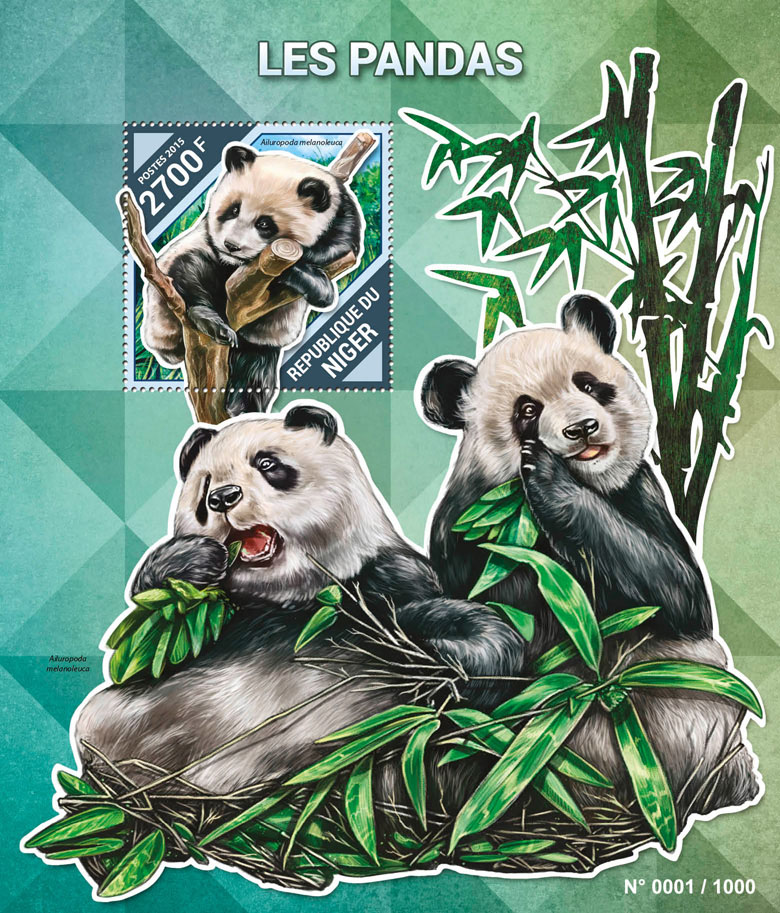 Pandas - Issue of Niger postage stamps