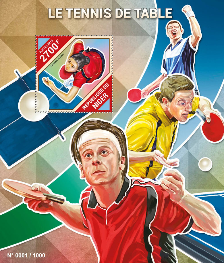 Table tennis - Issue of Niger postage stamps