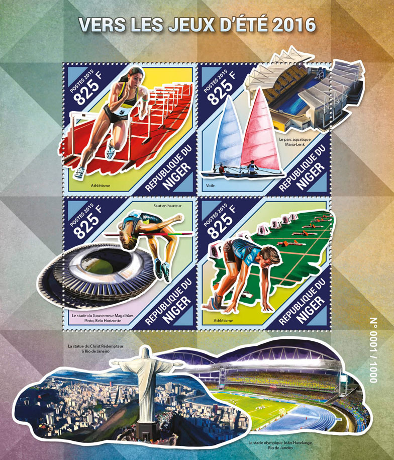 Sport - Issue of Niger postage stamps