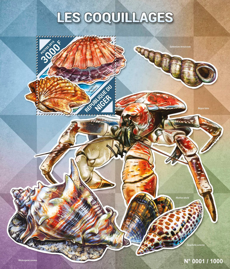 Shells - Issue of Niger postage stamps