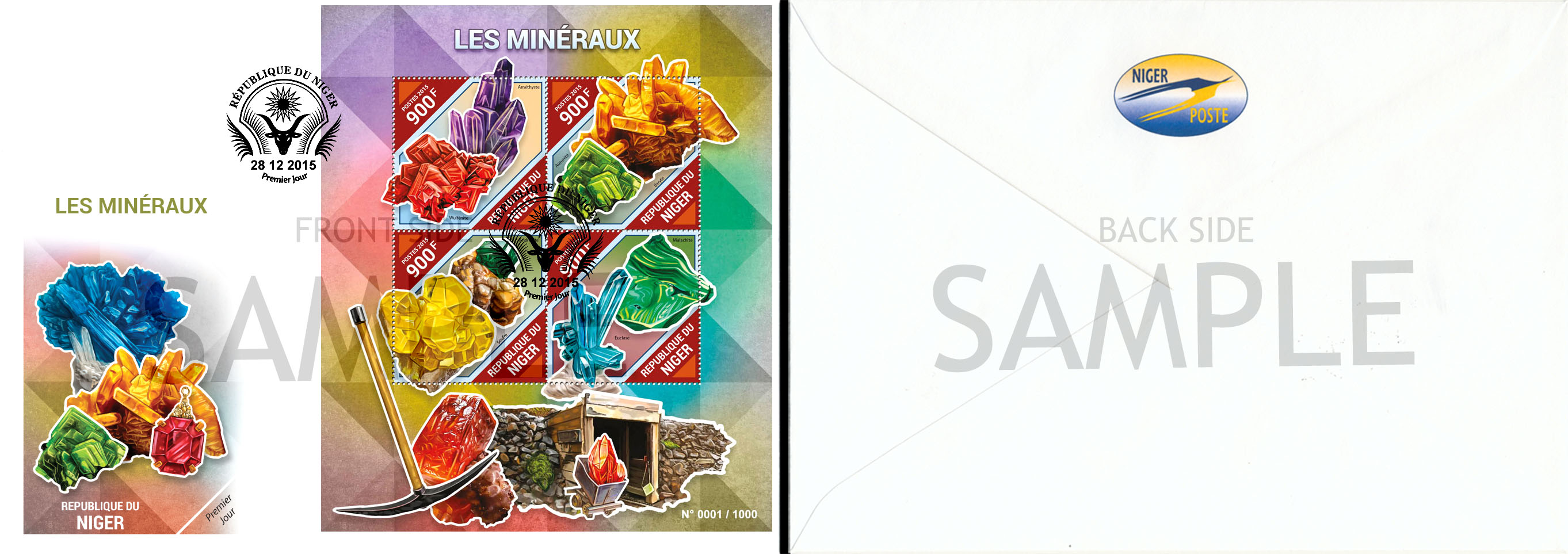 FDC Sample - Issue of Niger postage stamps