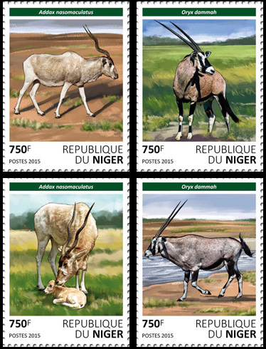 Antelopes – set - Issue of Niger postage stamps